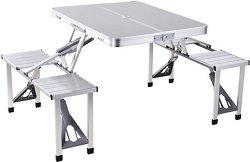 Сгъваема маса с вградени столчета - Deluxe 4