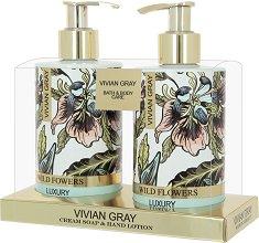 Vivian Gray Wild Flowers Cream Soap & Hand Lotion Set - Подаръчен комплект с козметика за ръце -