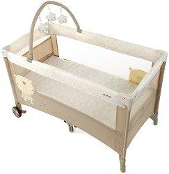 Сгъваемо бебешко легло на две нива - Duo Level Toys - Комплект с аксесоари -
