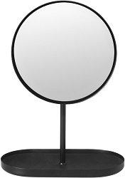 Козметично кръгло огледало на стойка - Modo Vanity - С поставка за дребни аксесоари или бижута -