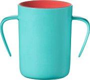 Неразливаща се преходна чаша с дръжки - Easyflow 360° 200 ml - За бебета над 6 месеца -