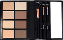 Profusion Cosmetics Contour - Палитра за контуриране на лице в комплект с четки за грим -
