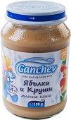 Ganchev - Млечна каша с ябълки и круши - Бурканче от 190 g за бебета над 4 месеца -