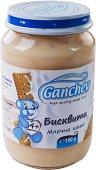 Ganchev - Млечна каша с бисквити - Бурканче от 190 g за бебета над 4 месеца - пюре