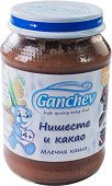 Ganchev - Млечна каша с нишесте и какао - Бурканче от 190 g за бебета над 4 месеца -
