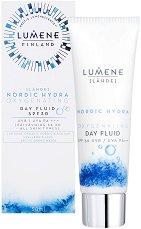 """Lumene Lahde Nordic Hydra Oxygenating Day Fluid - SPF 30 - Хидратиращ флуид за лице от серията """"Lahde"""" - фон дьо тен"""