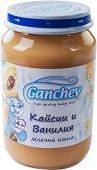 Ganchev - Млечна каша с кайсии и ванилия - Бурканче от 190 g за бебета над 4 месеца - пюре