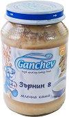 """Ganchev - Млечна каша """"Зърнин 8"""" - Бурканче от 190 g за бебета над 4 месеца - продукт"""