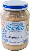 "Ganchev - Млечна каша ""Зърнин 8"" - Бурканче от 190 g за бебета над 4 месеца -"