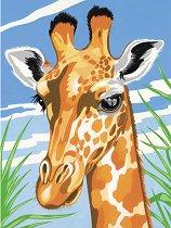 Рисуване по номера - Жираф - Комплект за картина с размери 22.5 x 30.5 cm