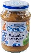 Ganchev - Пюре от плодове със сметана - Бурканче от 190 g за бебета над 4 месеца -