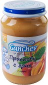 Ganchev - Пюре от праскови с грис - Бурканче от 190 g за бебета над 4 месеца - пюре