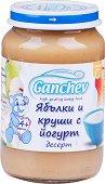 Ganchev - Десерт от ябълки и круши с йогурт - Бурканче от 190 g за бебета над 4 месеца - пюре