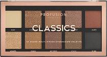 Profusion Cosmetics Classic Multi-finish Eyeshadow Palette - Палитра с 10 цвята сенки за очи -