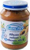 Ganchev - Десерт от ябълки и кайсии с овесени ядки - Бурканче от 190 g за бебета над 4 месеца - пюре