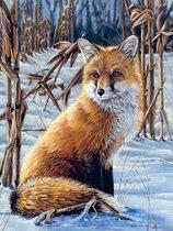 Рисуване по номера - Лисица - Комплект за картина с размери 22 x 30 cm