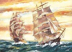 Рисуване по номера - Кораби - Комплект за картина с размери 40 x 30 cm