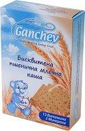 Ganchev - Инстантна бисквитена пшенична млечна каша - Опаковка от 200 g за бебета над 6 месеца -