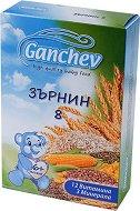 "Ganchev - Инстантна млечна каша ""Зърнин 8"" - Опаковка от 200 g за бебета над 6 месеца -"