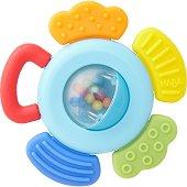 Дъвкалка с дрънкалка - Цвете - За бебета над 6 месеца - пюре