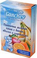 Ganchev - Инстантна пшенична млечна каша с банан, ябълка и портокал - Опаковка от 200 g за бебета над 6 месеца - продукт