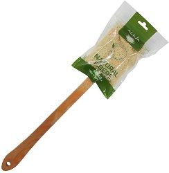 Гъба люфа за баня с дървена дръжка -