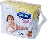 Ganchev Baby - Midi 3 - Пелени за еднократна употреба за бебета с тегло от 4 до 9 kg -