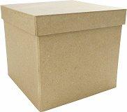 Фигура от папиемаше - Кутия - Предмет за декориране с размери 16 / 16 / 14 cm