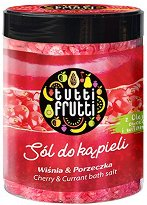 "Farmona Tutti Frutti Cherry & Currant Bath Salt - Соли за вана с аромат на вишна и френско грозде от серията ""Tutti Frutti Cherry & Currant"" -"