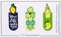 Мини магнитни разделители за книга - Lemons - Комплект от 3 броя -