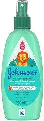Johnson's Kids No More Tangles Detangling Spray - Спрей балсам за деца за лесно разресване на косата - продукт