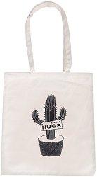Текстилна чанта за книги - Free Hugs -