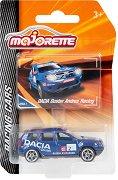 """Dacia Duster Andros Racing - Метална количка с отварящ се багажник от серията """"Racing Cars"""" - играчка"""