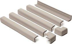 Предпазна лента за борд на камина или стъпало - Комплект с 2 предпазителя за ъгли -
