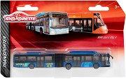 """Градски автобус - MAN Lions City G - Метална играчка от серията """"Transporter"""" -"""