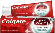 Colgate Max White Extra Care Enamel Protect Toothpaste - Избелваща паста за зъби със заздравяващ емайла ефект - балсам