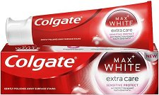 Colgate Max White Extra Care Sensitive Toothpaste - Избелваща паста за чувствителни зъби -
