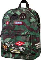 Ученическа раница - Cross: Camo Green Badges - раница