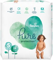 Pampers Pure Protection 5 - Пелени за еднократна употреба за бебета с тегло над 11 kg -