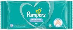 Pampers Fresh Clean Baby Wipes - Бебешки мокри кърпички в опаковки от 52 броя и 6 x 52 броя -
