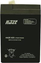 HZS6-4.5 6V / 4.5 Ah - Оловно-киселинна батерия с размери 70 / 47 / 101 mm -