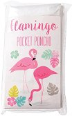 """Детски дъждобран тип пончо - Фламинго - От серията """"Flamingo"""""""