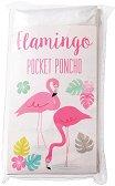 """Детски дъждобран тип пончо - Фламинго - С размери 13 x 16 cm от серията """"Flamingo"""""""