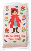 Детски дъждобран тип пончо - Червената шапчица - С размери 12.5 x 7 cm