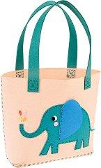 """Уший и декорирай сама чанта - Слончето Елвис - Творчески комплект от серията """"Elvis The Elephant"""" -"""
