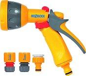 Пистолет за поливане - Multi Spray - Комплект с бързи връзки и адаптер за кран