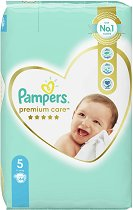 Pampers Premium Care 5 - Junior - Пелени за еднократна употреба за бебета с тегло от 11 до 16 kg -
