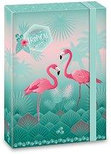 Кутия с ластик - Pink Flamingo