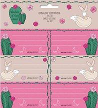 Етикети за тетрадки - Wonderful Desert - Комплект от 18 броя -