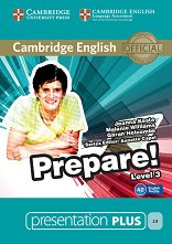 Prepare! - ниво 3 (A2): Presentation Plus - DVD-ROM с материали за учителя по английски език : First Edition - Joanna Kosta, Melanie Williams, Garan Holcombe, Annette Capel -